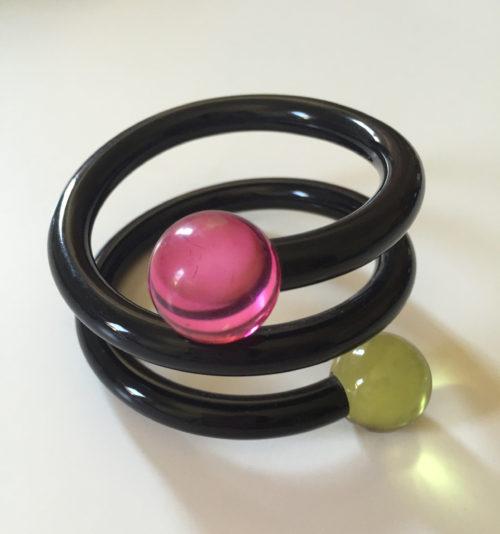 Vintage Judith Hendler Black Wrap Bracelet